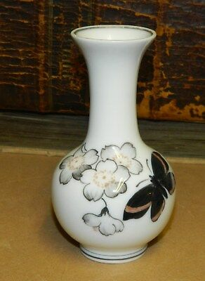 Porcelain vase from Royal Copenhagen with butterfly decoration from around 1930