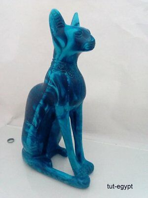 Rare Ancient Egyptian Antique Bastet Amulet Cat 1456-1245.