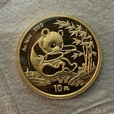 Chinese, 1994, Panda, OGP, 1/10 troy oz .999 Gold Round