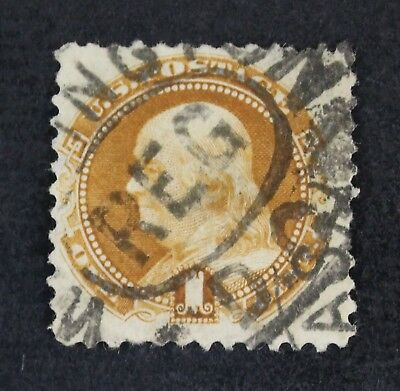 CKStamps: US Stamps Collection Scott#133 1c Franklin Used Thin CV$450