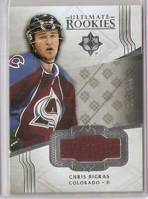 #109 Chris Bigras 2016-17 UD Ultimate Rookies Player-Worn Jersey RC SP to /249