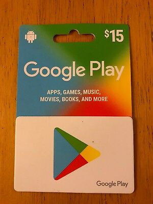 $15 Google Play Gift Card - FREE SHIPPING!!