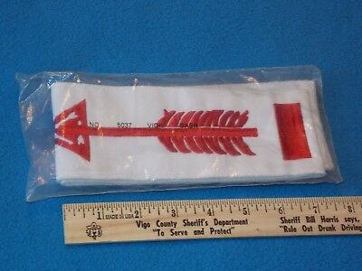 VINTAGE - Vigil Honor Sash Order of the Arrow OA - Boy Scout - NEW AND SEALED