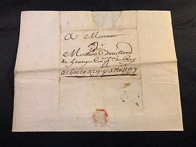 1717 ENLIGHTENMENT ERA LETTER with a note