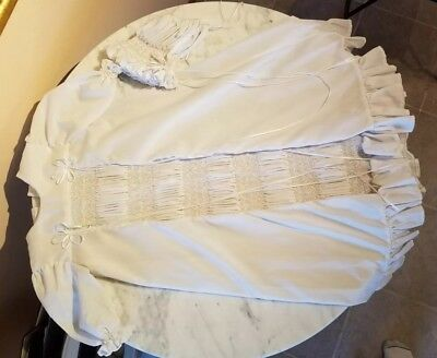 Stunning Vintage Christening Gown Cap And Slip