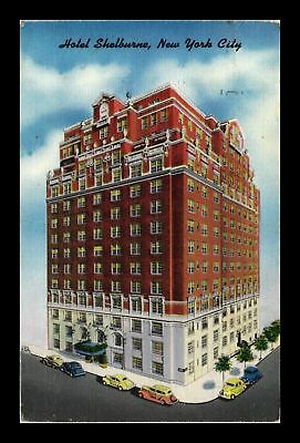 Dr Jim Stamps Us Hotel Shelburne New York City Linen View Postcard