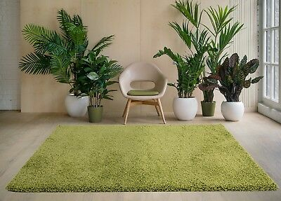 MODERN 5cm HIGH PILE PLAIN SOFT NON-SHED SHAGGY RUGS-SMALL X EXTRA LARGE THICK