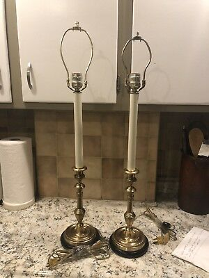 Pair Of Vintage Frederick Cooper Candlesticks Lamps