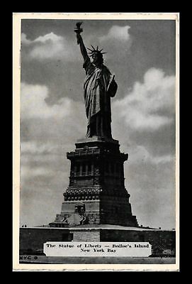 Dr Jim Stamps Us Statue Of Liberty Bedloe Island New York Bay View Postcard