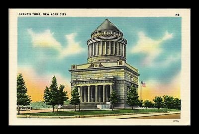 Dr Jim Stamps Us Grants Tomb New York City Linen View Postcard