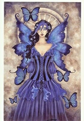 Amy Brown Limited Edition Print 13x19 #/250 SHADES OF BLUE Fairy Faery Butterfly