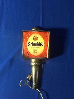 Vintage Schmidts Of Philadelphia Light Beer Rare Lantern Bar Light