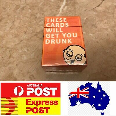 These Cards Will Get You Drunk, Adult Party Board Game, Melb Stock, Express Post