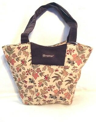 Purse AUTUMN PATH Longaberger Fabric Hobo Scoop Corduroy Trim Tote New