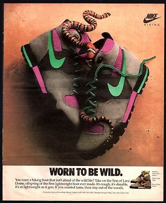 1989 NIKE Son of Lava Dome Hiking Boots Vintage PRINT AD