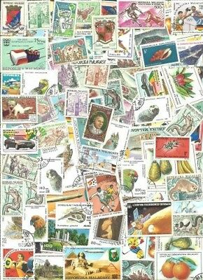 Malagasy Collection From Old Stamp Hoard 102 Large Off Paper Mint/Used **SALE**