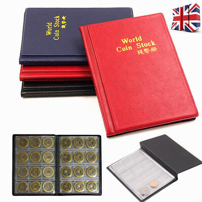 120 Coin Collection Holders Storage Money Penny Pocket Album Collecting Book DD