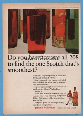 1965 Johnnie Walker Red Label Scotch Whiskey Do you have to taste all 208 ad