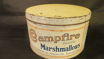 Antique Vintage Campfire Marshmallow Tin, A Classic For Any Collection