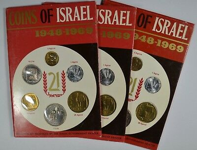 1948-1969 Coins of Israel 6 Coin Specimen Set (Qty 3) (b496.13)