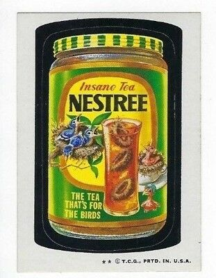 1973 Topps Wacky Packages 4th Series 4 NESTREE TEA high-gloss ex+/nm-