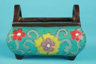 Antique Chinese Old Handmade Carving Cloisonne Royal Incense Furnace Collection