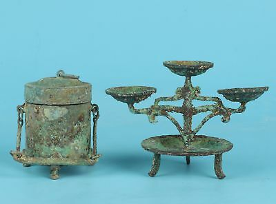 Qing Dynasty Unique Chinese Bronze Pot Lamp Decoration Gift Collection