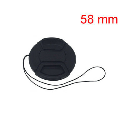 58mm Snap-On Front Lens Cap Cover Accessory For Canon SLR DSLR Cam with String