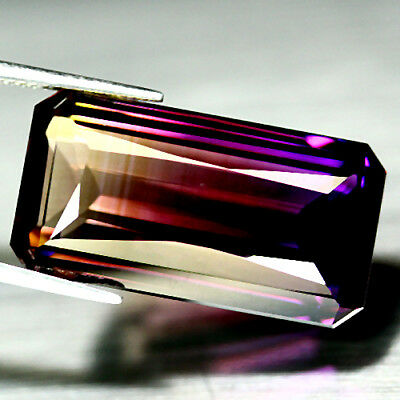 31.45 Ct Aaa! Purple & Golden Bolivia Ametrine Octagon Luscious