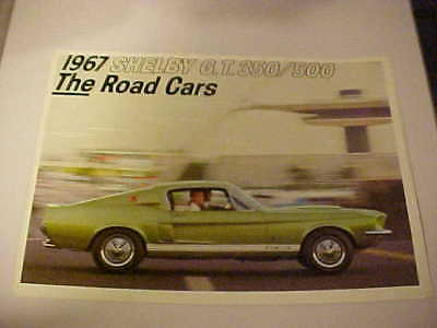 1967 Shelby Gt 350/500 Fold Out Brochure