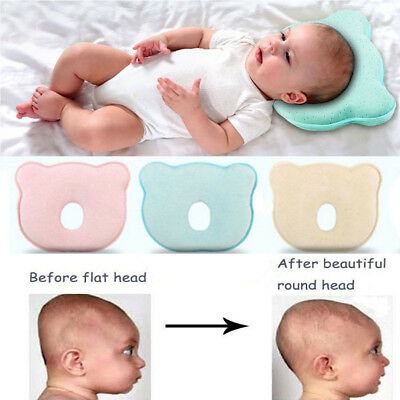 Infant Baby Pillow For 0-6Month Newborn Bear Shape Prevent Flat Head Support Pad
