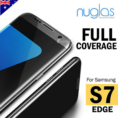 Samsung Galaxy S7 EDGE NUGLAS Full Coverage Tempered Glass Screen Protector Film