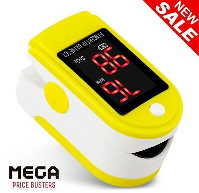 Fingertip Pulse Oximeter Blood Oxygen Saturation Pulse Heart Rate Monitor LED