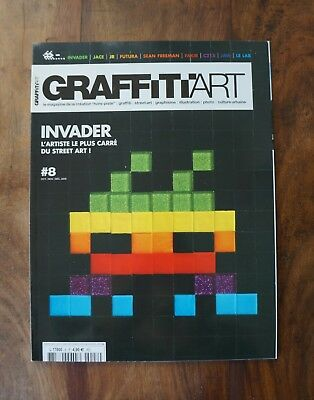 **graffiti Art Magazine N°8, L'art Contemporain Urbain, Invader, Jr, Fakir..**