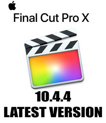 Apple Final Cut Pro X Latest Version 10.4.4 Instant Delivery High Sierra Mojave