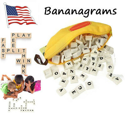 Bananagrams Educational Spelling Funny Word Travel Play Board Toy Puzzle Game Uk