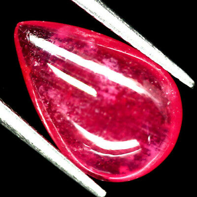 6.40 Ct Natural Pink Ruby Glass Filled Madagascar Pear Cabochon
