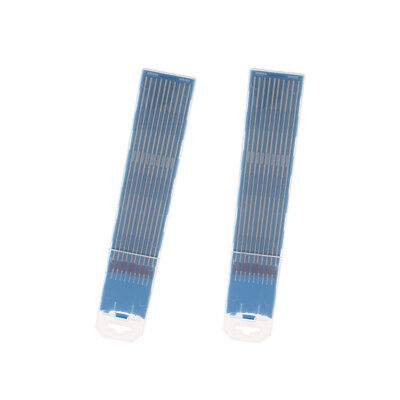 20-Pack Grey WC20 1.6x150mm Tungsten Electrodes Rods for Tig Welding Machine