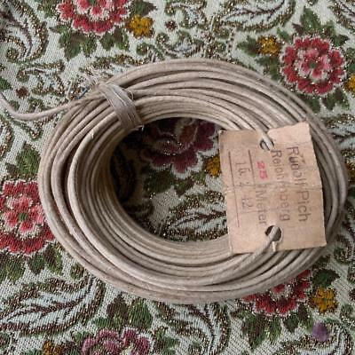 25 meter 1942 Klangfilm wire cotton 1.00 mm thick cable