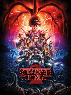 Stranger Things 2  - One Sheet Poster Leinwand-Druck Bild (80x60cm) #120114