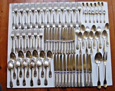 "Menagere Metal Argente"" Cluny""christofle 96 Pieces"