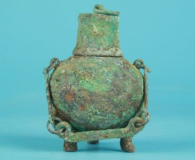 Old Bronze Casting Unique Chinese Incense Furnace Jar Collection Handmade