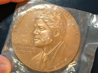 William Jefferson Clinton 42Nd President Bronze Medallion Priced To Sell Quickly