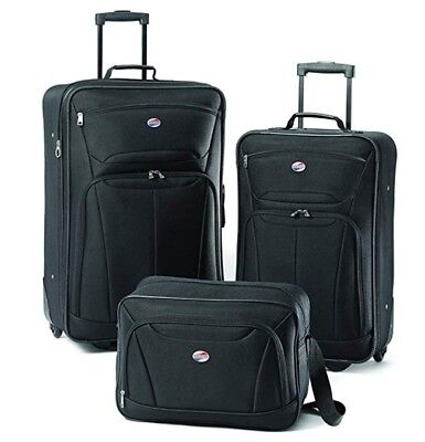American Tourister Luggage Fieldbrook II Set, Black Traveling Bags with Wheels