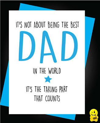 Funny Father/'s Day Greeting Card Cheeky Banter Best Dad Animal Grumpy Git  F22