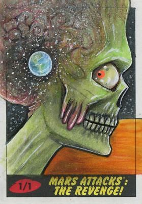 Mars Attacks The Revenge Sketch Card By Mohammed Jilani