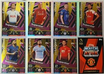 Topps Match Attax 2018/19 Limited Edition Card Singles Epl Bronze, Silver & Gold