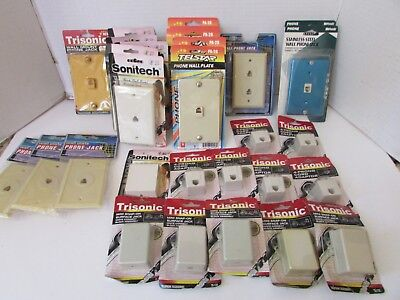 Large Asst Of Telephone Accessories Wall Jacks Adapters & More See Pics New