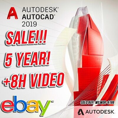 AutoDesk AutoCad 2019 License / 5 Year License / Instant Delivery