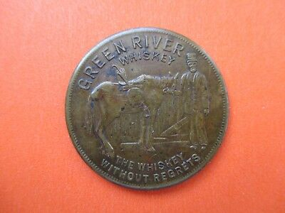 1937 Green River Whiskey Without Regrets Lucky to Drink Medallion Owensboro KY